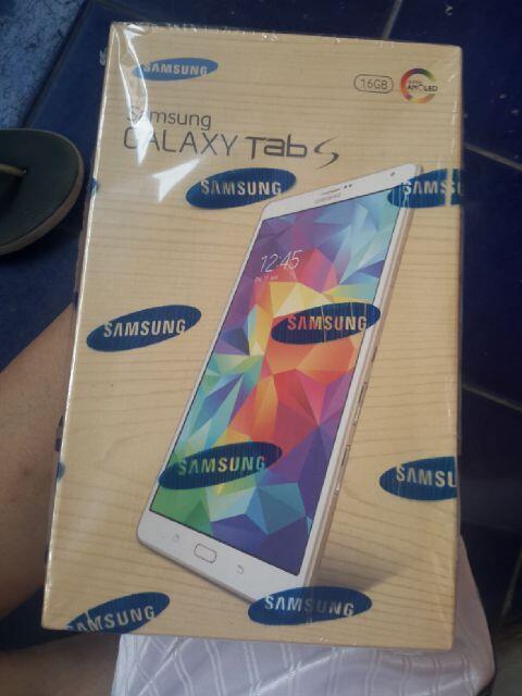 samsung galaxy tab s sm-t705 white gold mulus garansi panjang