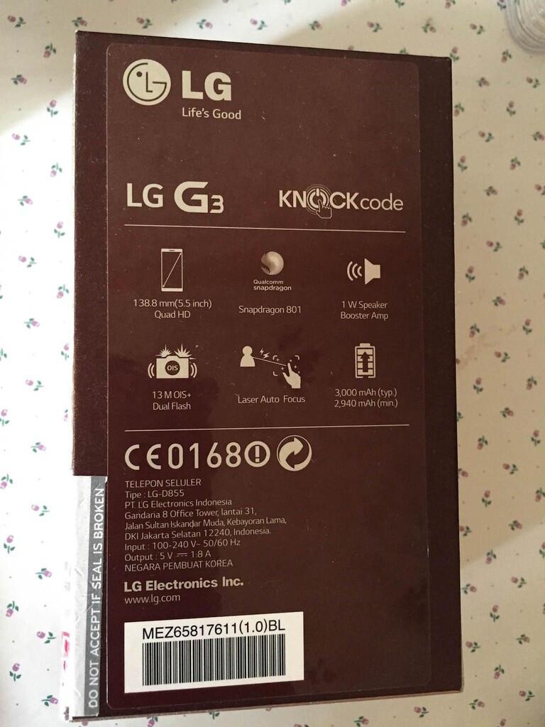 LG G3 Gold LTE Smartphone - Jual murah - 100% Baru