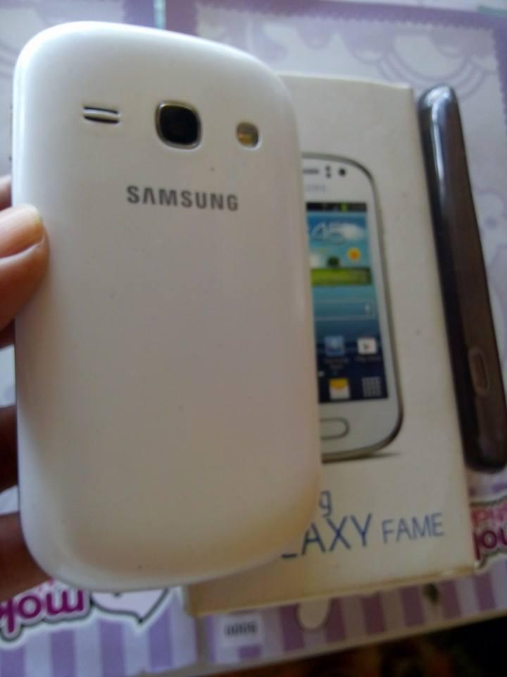 Samsung Galaxy Fame White Kmr 5mp Flaz Mulus Garansi