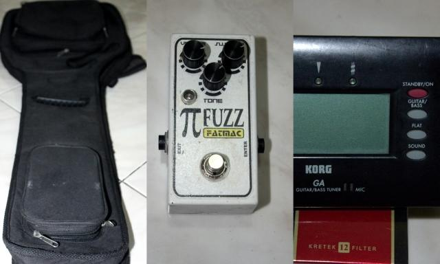 Paket Hemat!! Tas/Softcase Gitar, Tuner Korg, Fuzz Efect/efek. SEMARANG :D