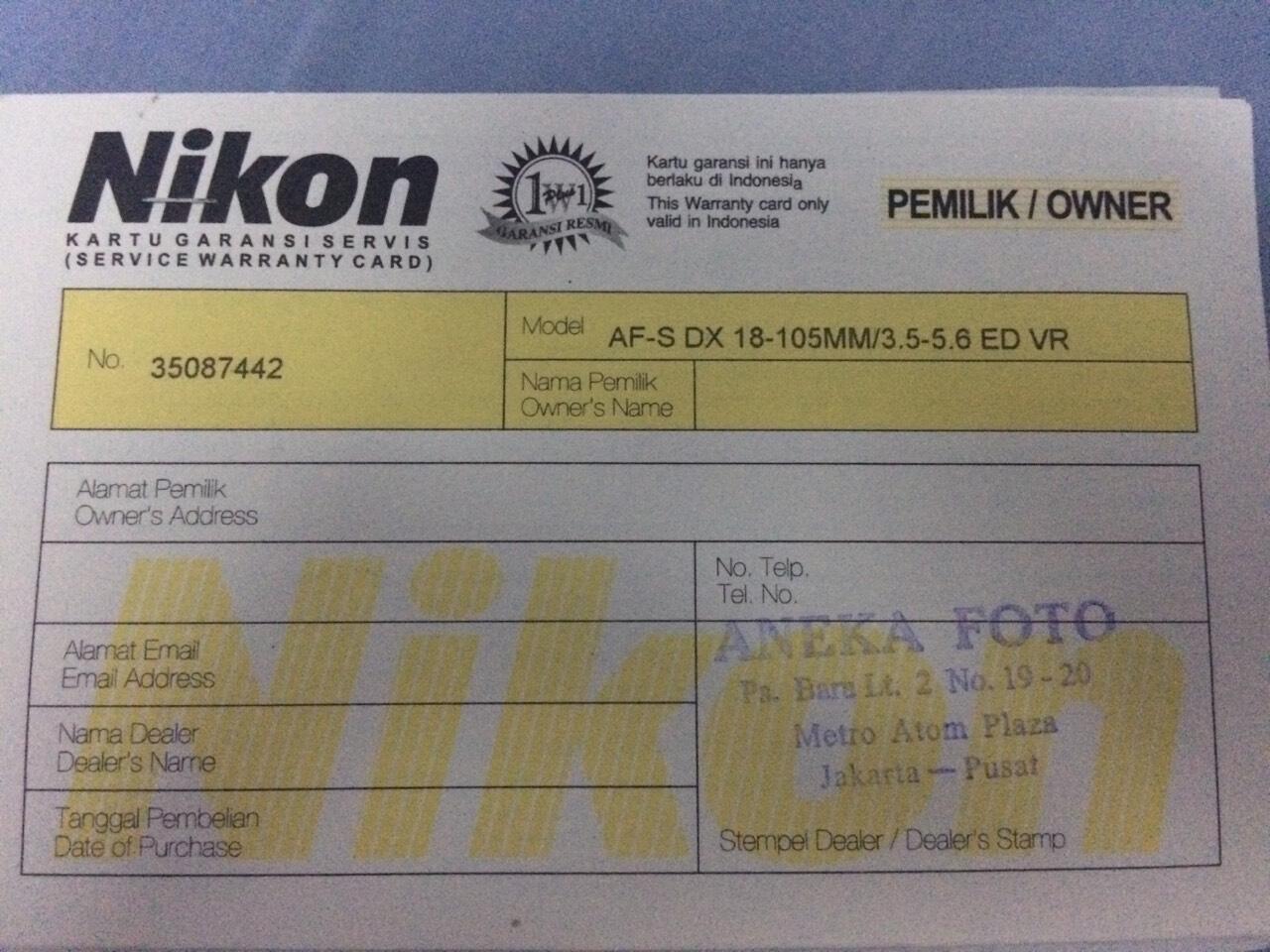 Terjual Jual Murah Nikon D 7000 Kit Garansi Alta Dan Printer Kodak Paper 605 Mint Condition