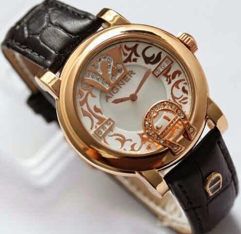 Jam tangan Aigner batik polos