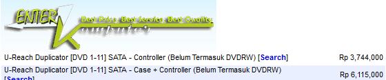 Mesin DVD Duplicator U-Reach 1-11 (4 Unit) bekas pengadaan, JAMIN MURAH