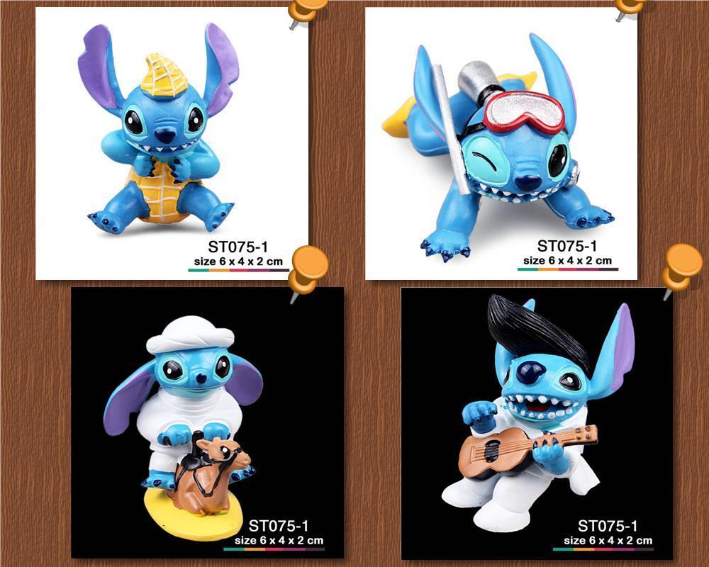 Set Pajangan, Model Kit, Action Figure, Mainan, Lilo & Stitch Walt Disney