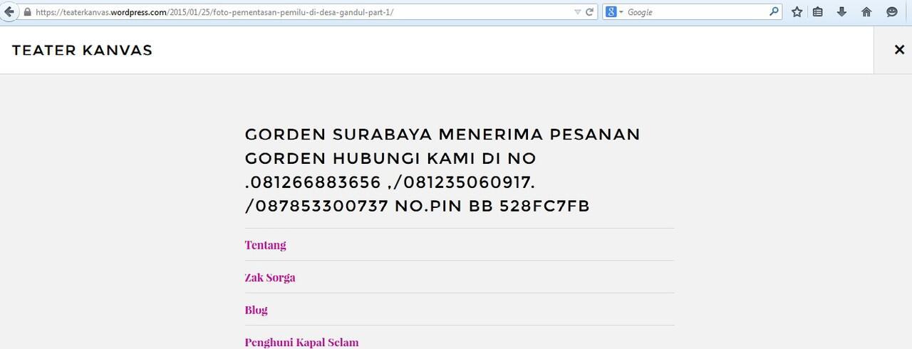 Hack dari Gorden Surabaya