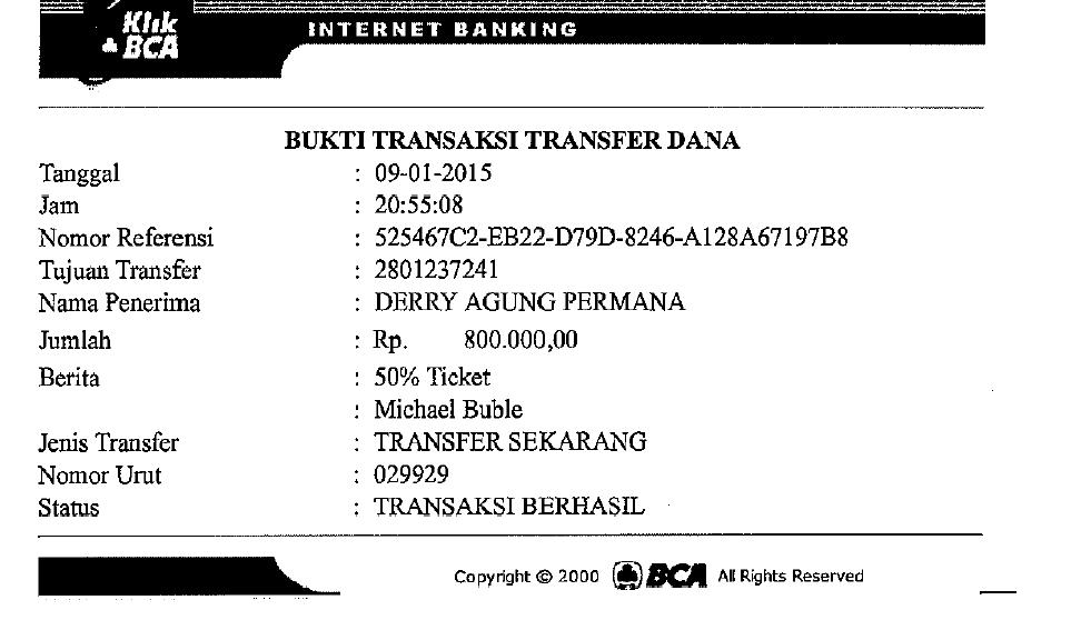 ID ERLANGGAFLACH PENIPU!! NO. REK.: 2801237241 A/N DERRY AGUNG PERMANA BANK BCA