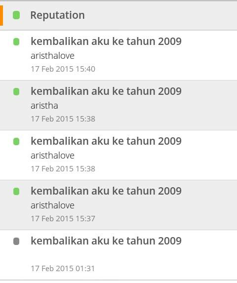 kembalikan aku ke tahun 2009