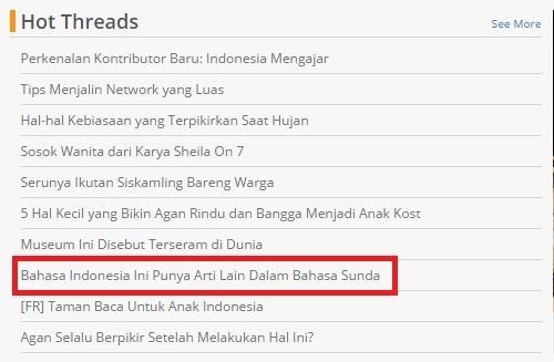 Kata Kata Bahasa Indonesia Ini Punya Arti Lain Dalam Bahasa Sunda