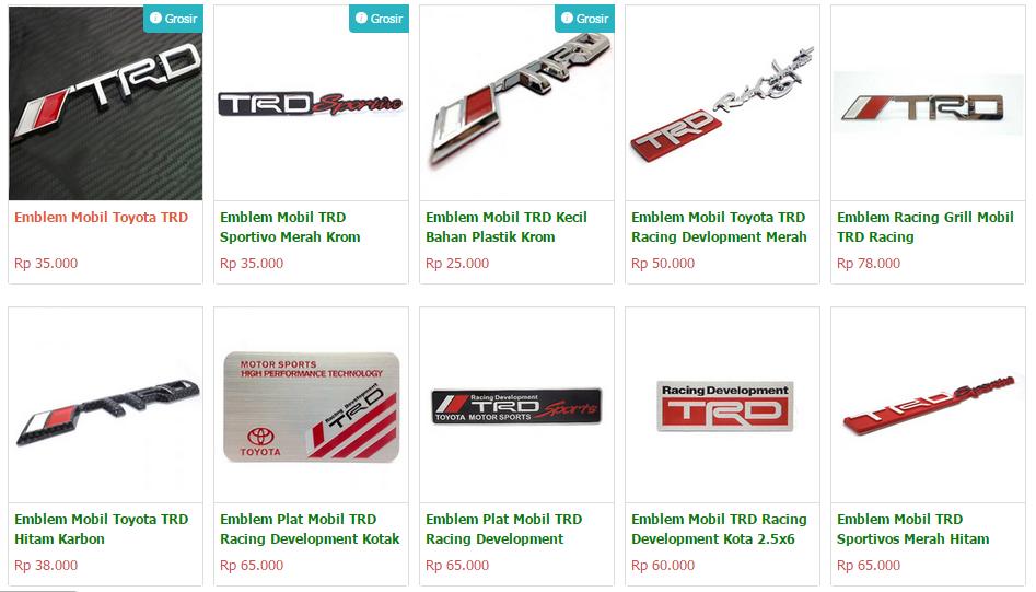 Stiker Pintu Mobil Mugen Power Honda Panjang Cutting Stickersepasang Source · Ratusan Emblem Mobil Racing TRD