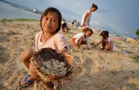 Mencari Kerang dan Berbagai Aktivitas Lain Masyarakat Pesisir Saat Air Laut Surut