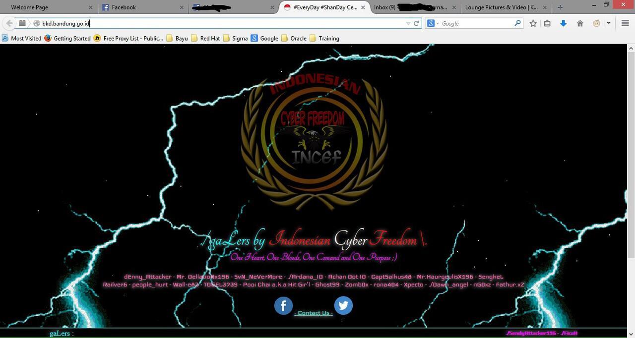 Web BKD Bandung kena Hack