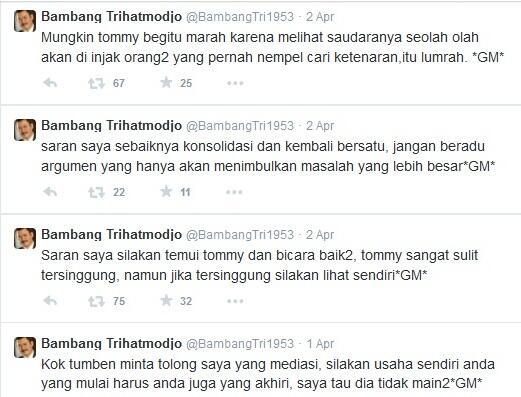 Ini Jawaban Yorrys Raweyai atas Tantangan Tommy Soeharto