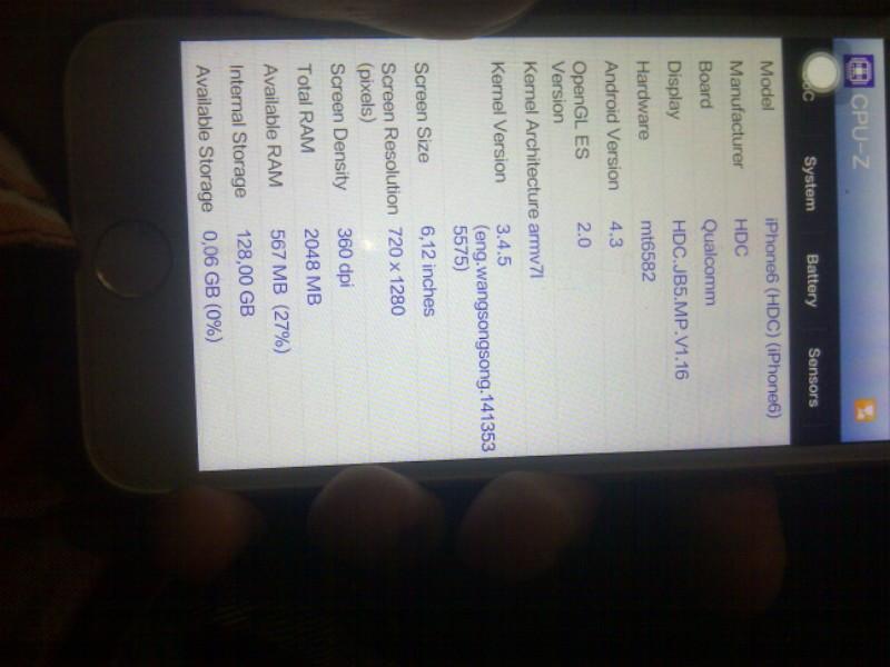 lounge iphone 6 replika ( iphone rasa android )
