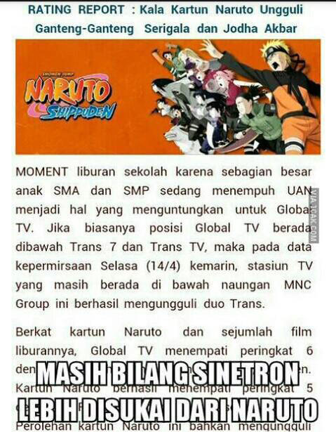 Fenomena NARUTO di Tv Lokal
