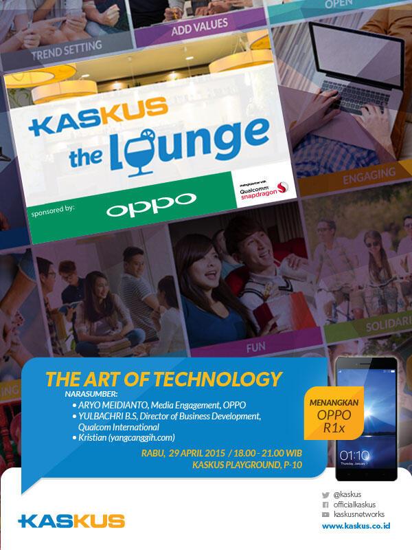 Ikut Ramein dan Rebut Hadiah Keren di KASKUS The Lounge bersama OPPO Yuk!