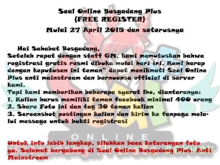 ++ Seal Online Bosgadang Plus Private Server ++