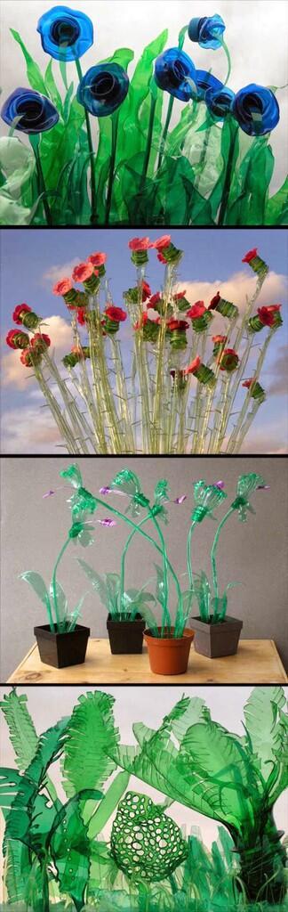 Botol Plastik Bekas Jadi Alat Perhiasan Rumah