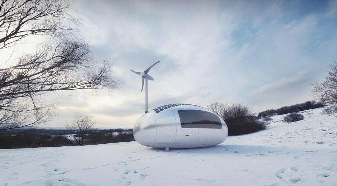 Ecocapsule, Rumah Mini Canggih Bertenaga Angin