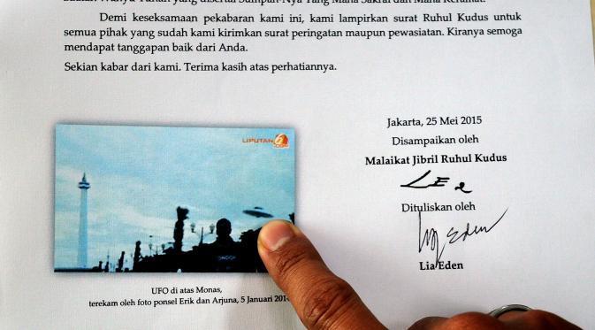 Lia Eden Kirim Surat ke Jokowi Minta Izin Daratkan UFO di Monas