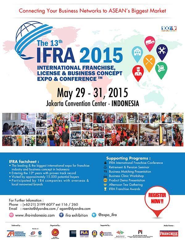 IFRA 2015: Pameran Waralaba Internasional Terbesar di Indonesia