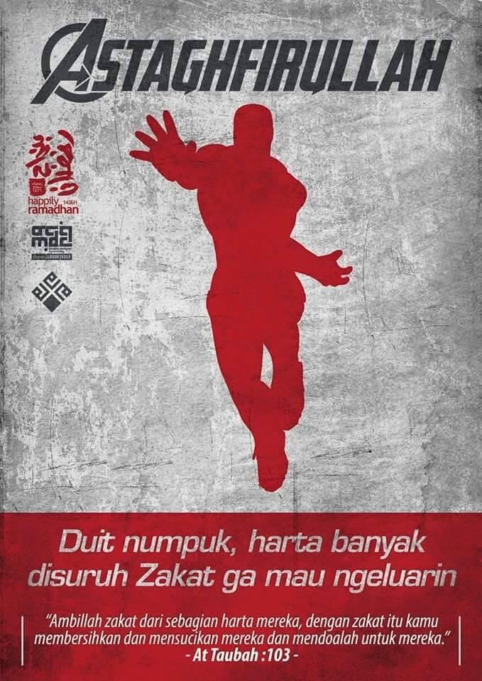 Poster Avenger juga Nyambut Puasa gan !