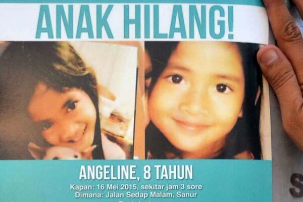RIP.Angeline, Bocah 8 Tahun yang Hilang Ditemukan Tewas di Belakang Rumah