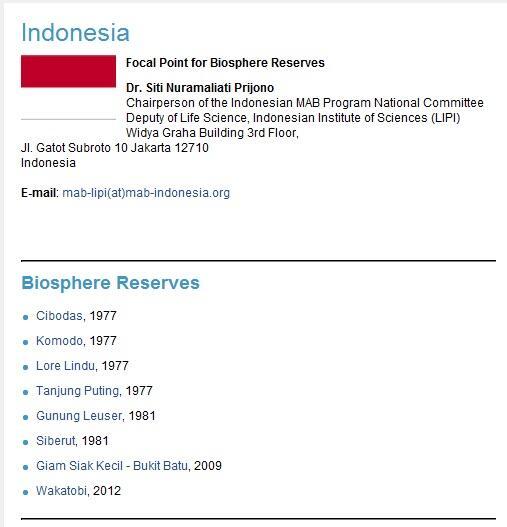 UNESCO tambah 2 cagar biosfer Indonesia!