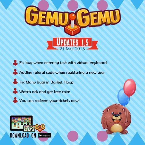 Gemugemu Arcade Games Versi 1.5