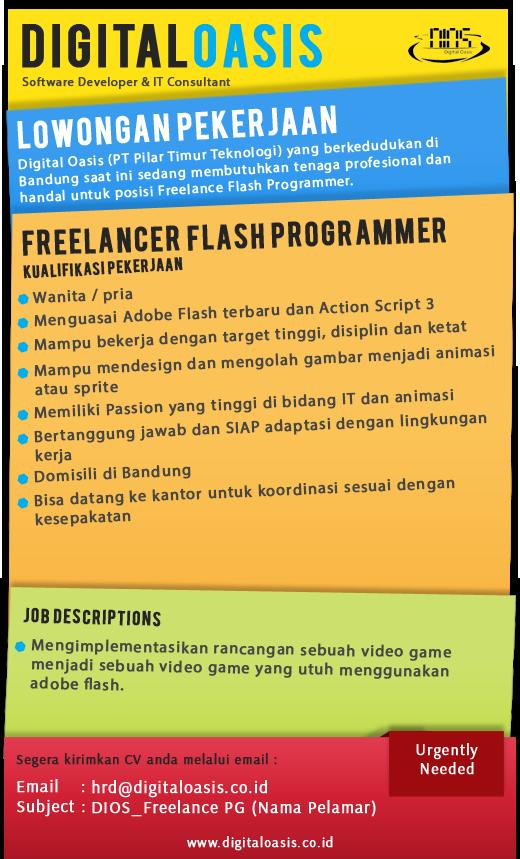 Dibutuhkan Freelancer Programmer Flash