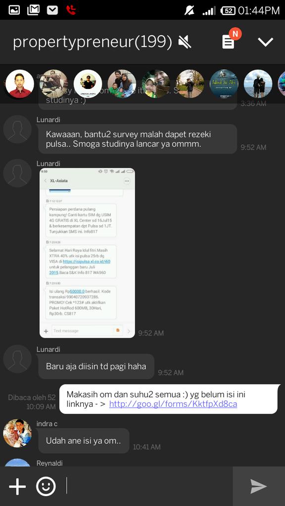 BANTU ANE ISI KUESIONER T.A DAPET KESEMPATAN MENANG PULSA RP50.000 DIBAGI SETIAP HARI
