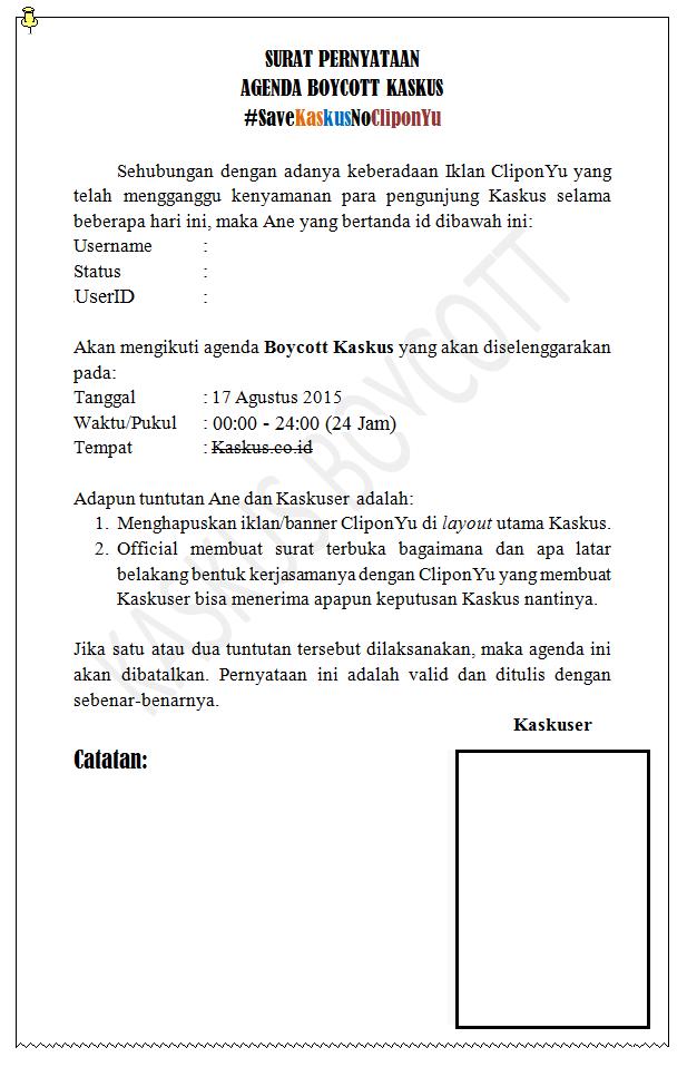 [#Kaskusionalis17Ags] Agenda Boycott Kaskus Atas Nama #SaveKaskusNoCliponyu