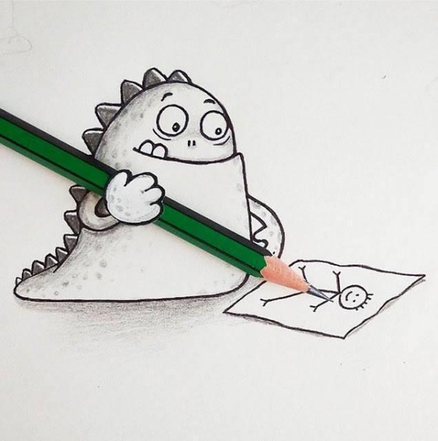 Ketika Monster Kecil Lucu ini Mencoba Berekspresi dengan Benda-Benda Sekitar