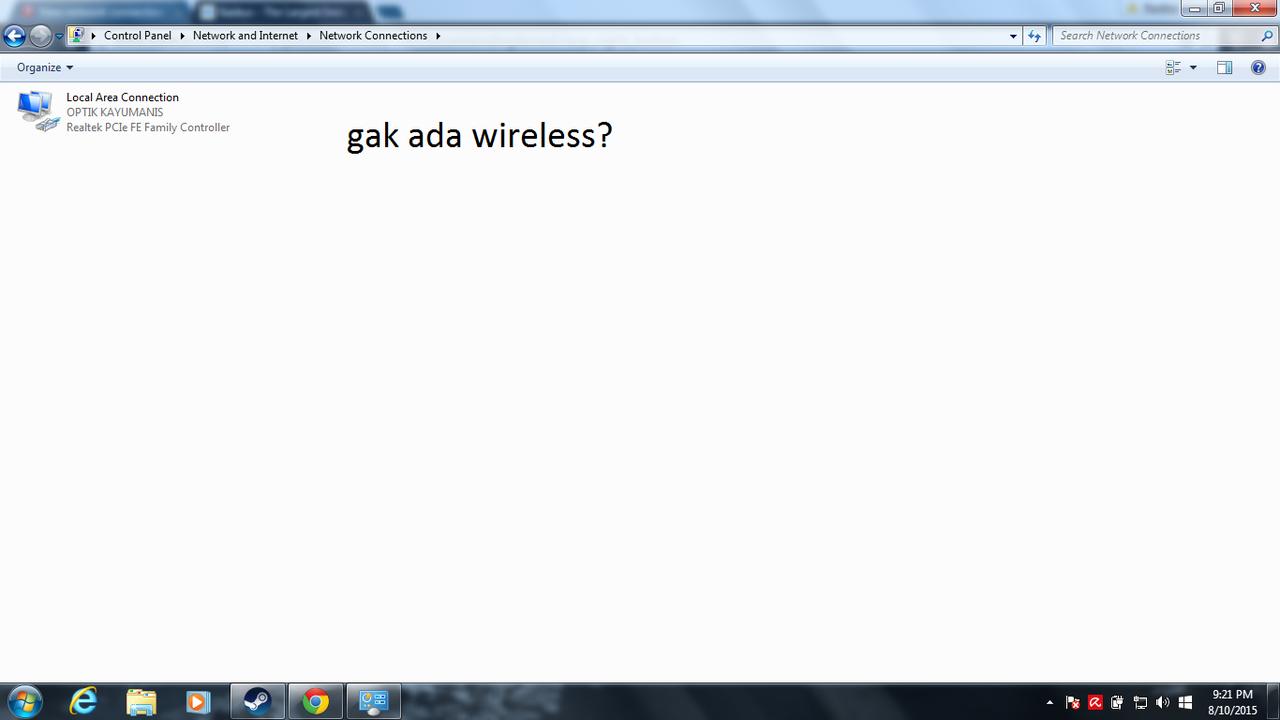 Gak nyambung wireless?