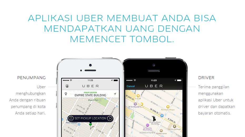 lowongan kerjasama driver dan partner uber