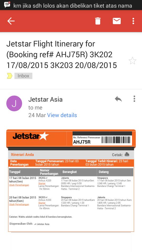 Sangat Kecewa Dengan Pelayanan Jetstar Kaskus