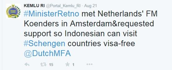 Ini alasan Indonesia pantas bebas visa Schengen