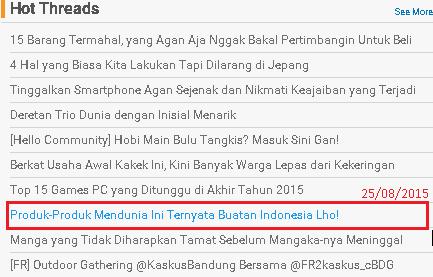 Produk-produk mendunia ini ternyata buatan Indonesia lho!