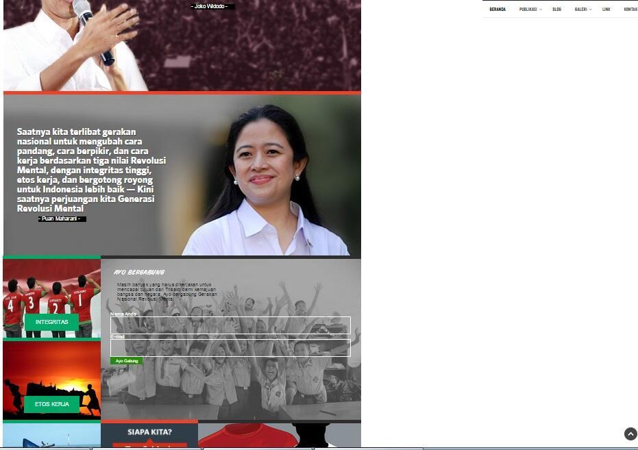 Menteri Puan Maharani Luncurkan Situs revolusimental.go.id