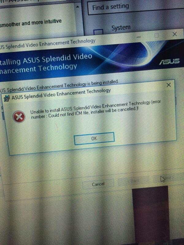 (Help) error install driver win10 untuk asus