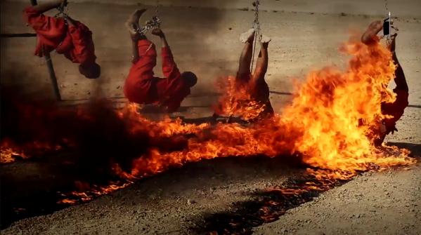 Hasil gambar untuk ISIS bakar tawanan