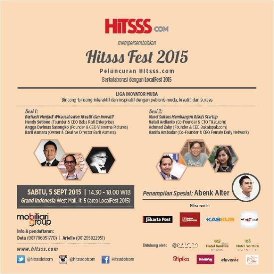 Hitsss.com Launching Event! Bincang Inspiratif dari Pebisnis Muda Kreatif