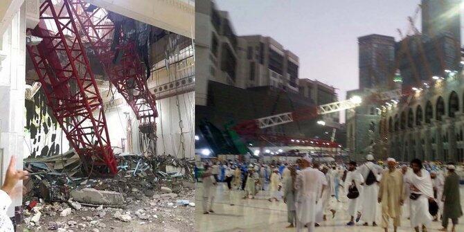 Crane jatuh di Masjidil Haram, 20 jamaah asal Indonesia luka-luka