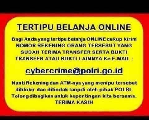 Broadcast Email cybercrime@polri.go.id adalah HOAX !!! Email tersebut TIDAK ADA !!!