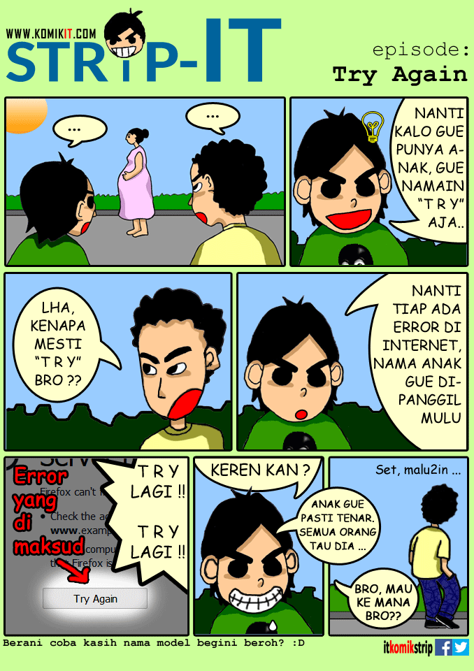 Strip-IT: Strip (Diusahakan) Lucu Seputar IT :malu: