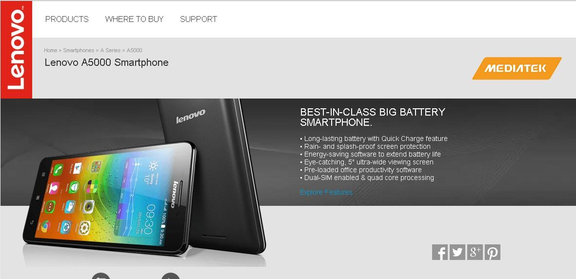 Lenovo A5000 - Best-in-Class Battery Life