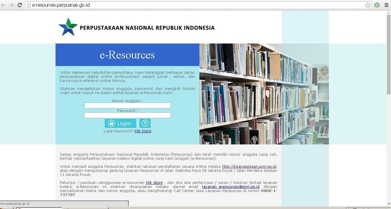 Akhirnya Negri Ini punya E-Resources !!!