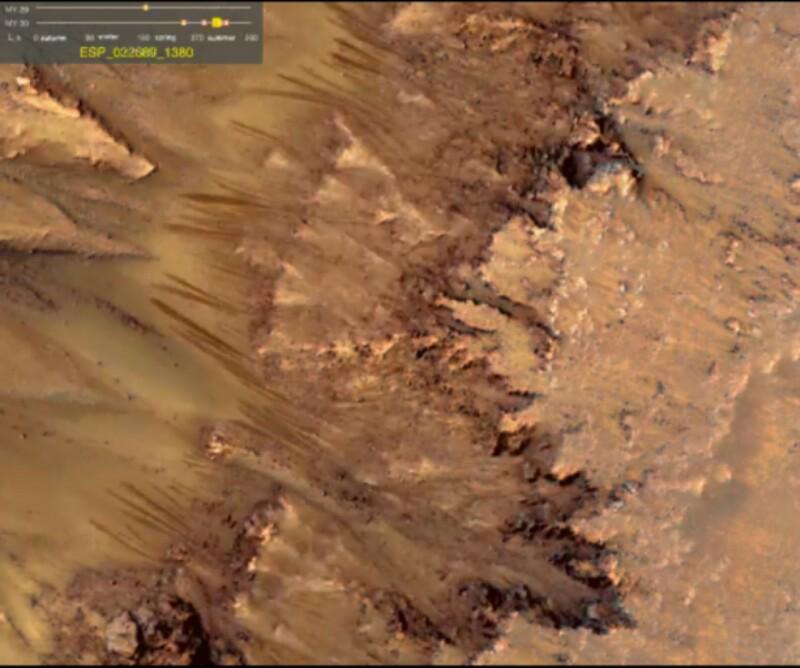 Aliran Air Garam Ditemukan Di Mars!