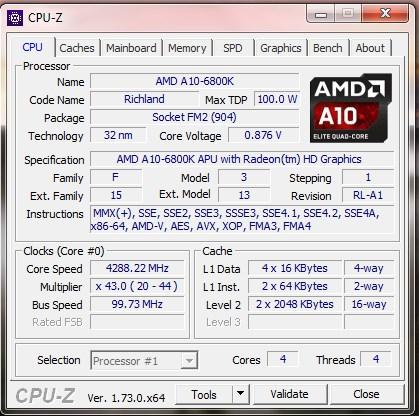 Gaming CPU AMD A10-6800K