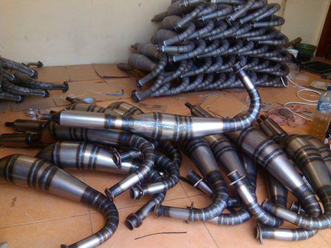 KNALPOT RX King 3v3 kolong buatan surabaya