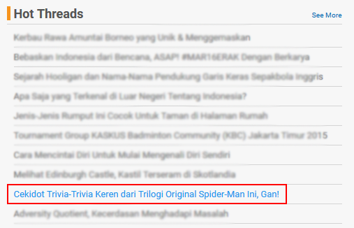 Trivia dari Trilogi Original Spider-Man yang banyak belum Kamu Ketahui